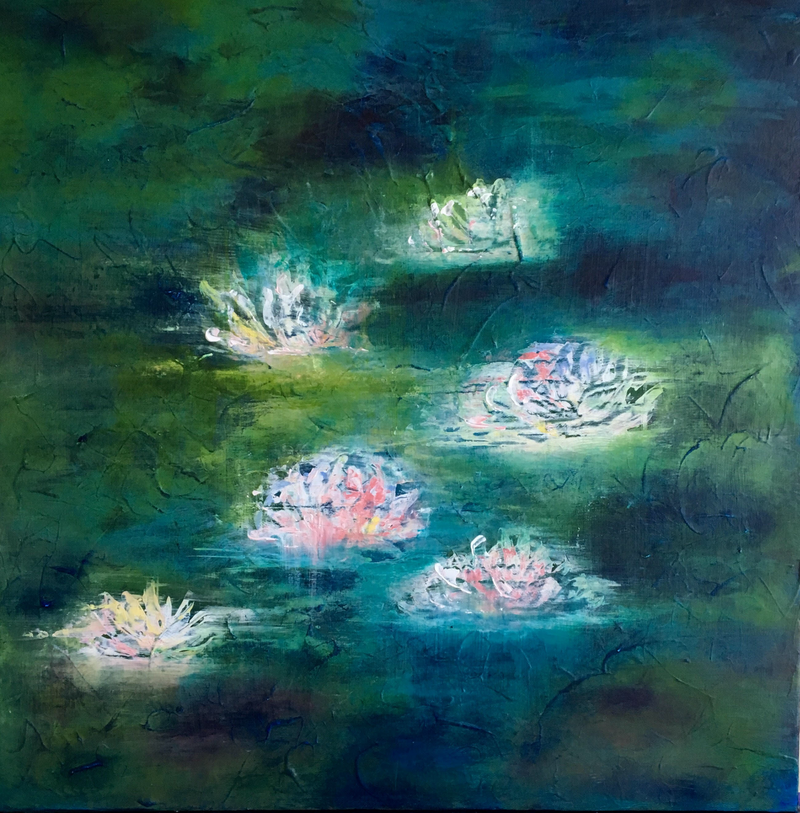 (CreativeWork) LUNAR LILLY by April Lockwood. #<Filter:0x00007fbc2cb7ce48>. Shop online at Bluethumb.