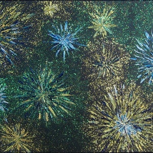"(CreativeWork) ""FIREWORKS"". by Alorna & Co. mixed-media. Shop online at Bluethumb."