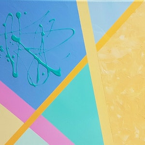 (CreativeWork) Dandy lines series #4 by Claire Cooper. arcylic-painting. Shop online at Bluethumb.