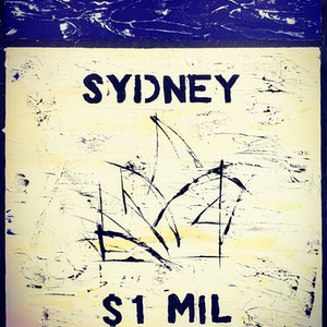 (CreativeWork) Sydney - The Boom by Leith Kennedy. Acrylic Paint. Shop online at Bluethumb.