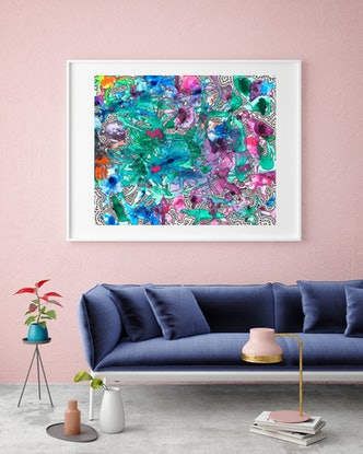 (CreativeWork) Mind Map (Moray) by BAY Contemporary Artist. Acrylic Paint. Shop online at Bluethumb.