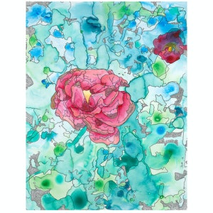 (CreativeWork) Camellia by Bay The Artist. arcylic-painting. Shop online at Bluethumb.