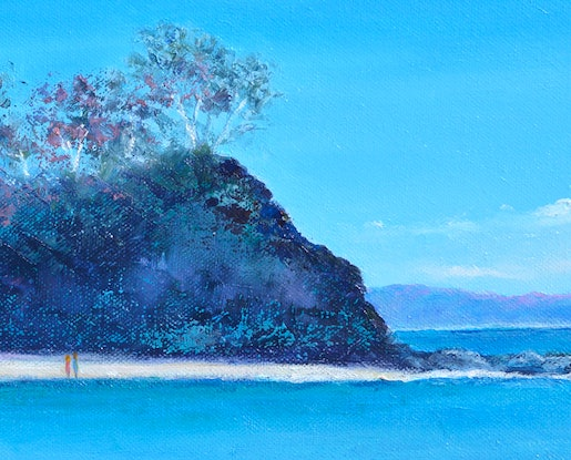 (CreativeWork) Sunshine Bay, south coast, New South Wales by Jan Matson. Oil Paint. Shop online at Bluethumb.