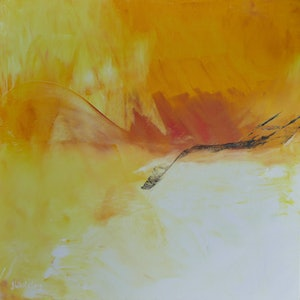(CreativeWork) Volcanic Heat by Jennifer Whiteley. arcylic-painting. Shop online at Bluethumb.