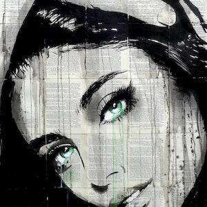 (CreativeWork) MAYBE AGAIN by loui jover. drawing. Shop online at Bluethumb.