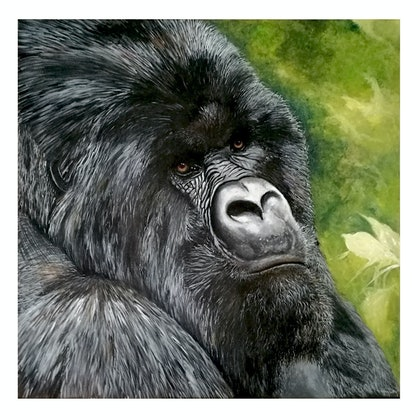 (CreativeWork) Curious by Danny Bradley. arcylic-painting. Shop online at Bluethumb.