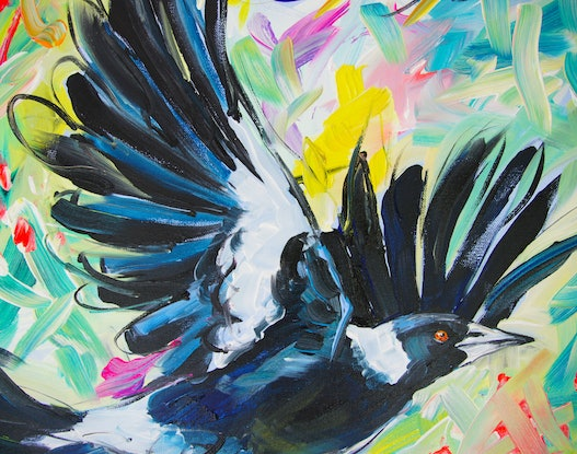 (CreativeWork) Wings by Katerina Apale. Acrylic Paint. Shop online at Bluethumb.