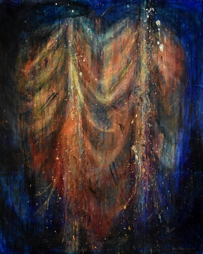(CreativeWork) Shrouded Heart by Billy Shannon. arcylic-painting. Shop online at Bluethumb.