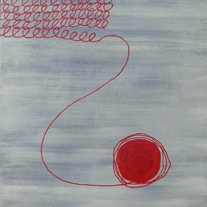 (CreativeWork) Unraveling  by Barbara Payne. arcylic-painting. Shop online at Bluethumb.