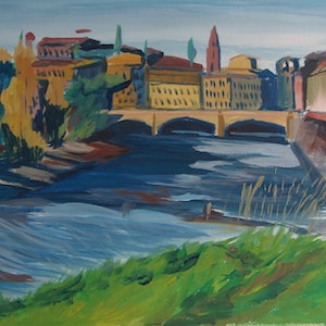 (CreativeWork) Florence 2016 by Adam Mennella. mixed-media. Shop online at Bluethumb.
