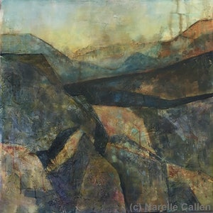 (CreativeWork) The Inclines by Narelle Callen. arcylic-painting. Shop online at Bluethumb.