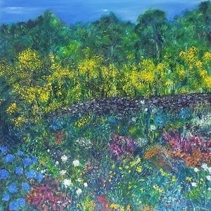 (CreativeWork) COMMISSION  'Full Bloom 2' by Fae Ballingall. oil-painting. Shop online at Bluethumb.