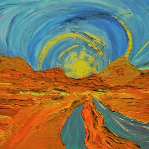 (CreativeWork) Golden Glow by martin wichtmann. arcylic-painting. Shop online at Bluethumb.