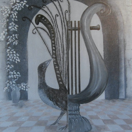 (CreativeWork) LYRE by Lisa Dangerfield. Acrylic Paint. Shop online at Bluethumb.