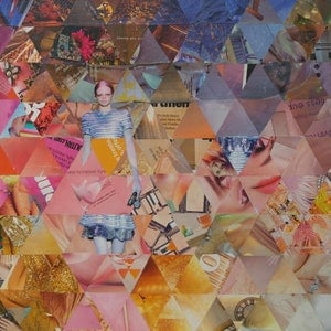 (CreativeWork) Triangles and bodyparts by Keren Rubinstein. mixed-media. Shop online at Bluethumb.