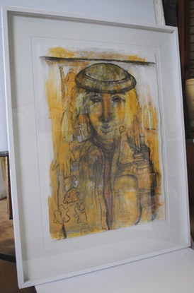 (CreativeWork) THOUGHTFUL by Chris Rowe. Mixed Media. Shop online at Bluethumb.
