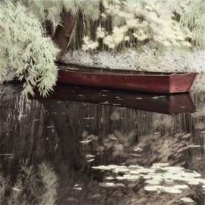 (CreativeWork) Bateau à Giverny by Debbie Giles. drawing. Shop online at Bluethumb.