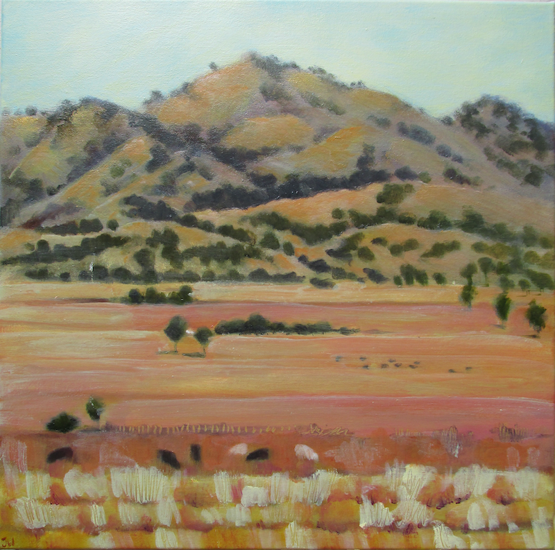 (CreativeWork) Looking East by Janelle White. oil-painting. Shop online at Bluethumb.