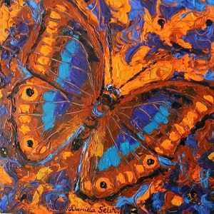"(CreativeWork) ""Flutter-by"" by Daniela Selir. arcylic-painting. Shop online at Bluethumb."