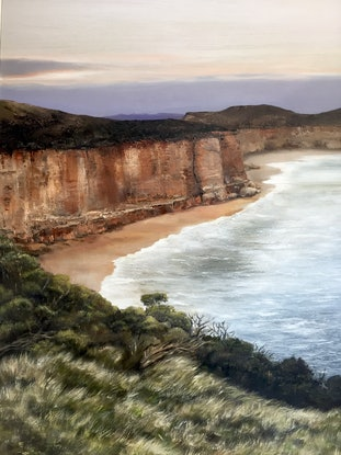 (CreativeWork) The Great Ocean Road by Annie Hawkins. #<Filter:0x00007f3c2287e208>. Shop online at Bluethumb.