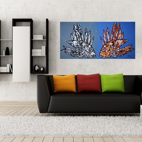 (CreativeWork) Marine Duality FRAMED by Camilo Esparza. Oil Paint. Shop online at Bluethumb.