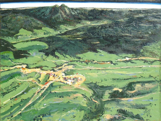 (CreativeWork) Earthscape - Mt Barney by Abramo Papp. Oil Paint. Shop online at Bluethumb.