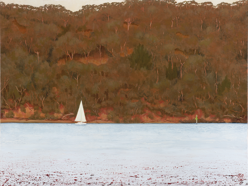 (CreativeWork) Stradbroke's Canaipa Passage by Abramo Papp. oil-painting. Shop online at Bluethumb.