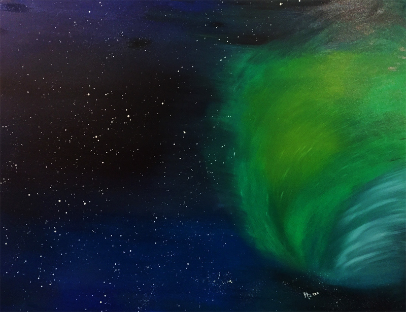 (CreativeWork) Stardust by Hana Obsidian. Oil Paint. Shop online at Bluethumb.
