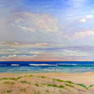 (CreativeWork) Mermaid Beach ,Early Morning  Gold Coast, Queensland . by Virginia McGowan. oil-painting. Shop online at Bluethumb.