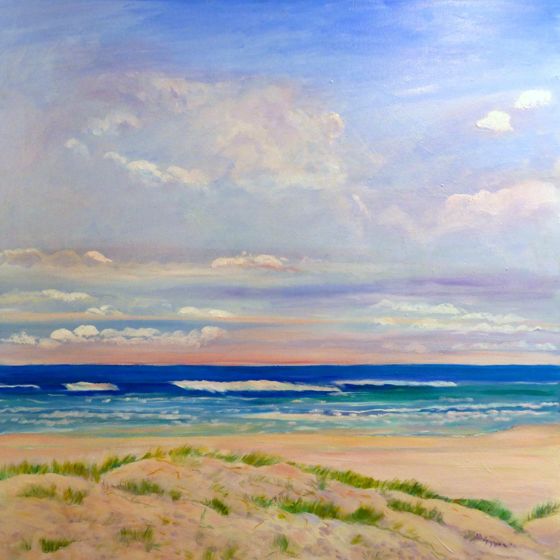 (CreativeWork) Mermaid Beach ,Early Morning  Gold Coast, Queensland . by Virginia McGowan. Oil Paint. Shop online at Bluethumb.