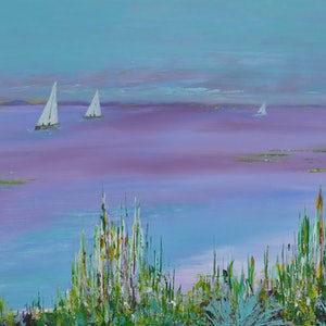 (CreativeWork) Sailing Serenity by Jennifer Whiteley. arcylic-painting. Shop online at Bluethumb.