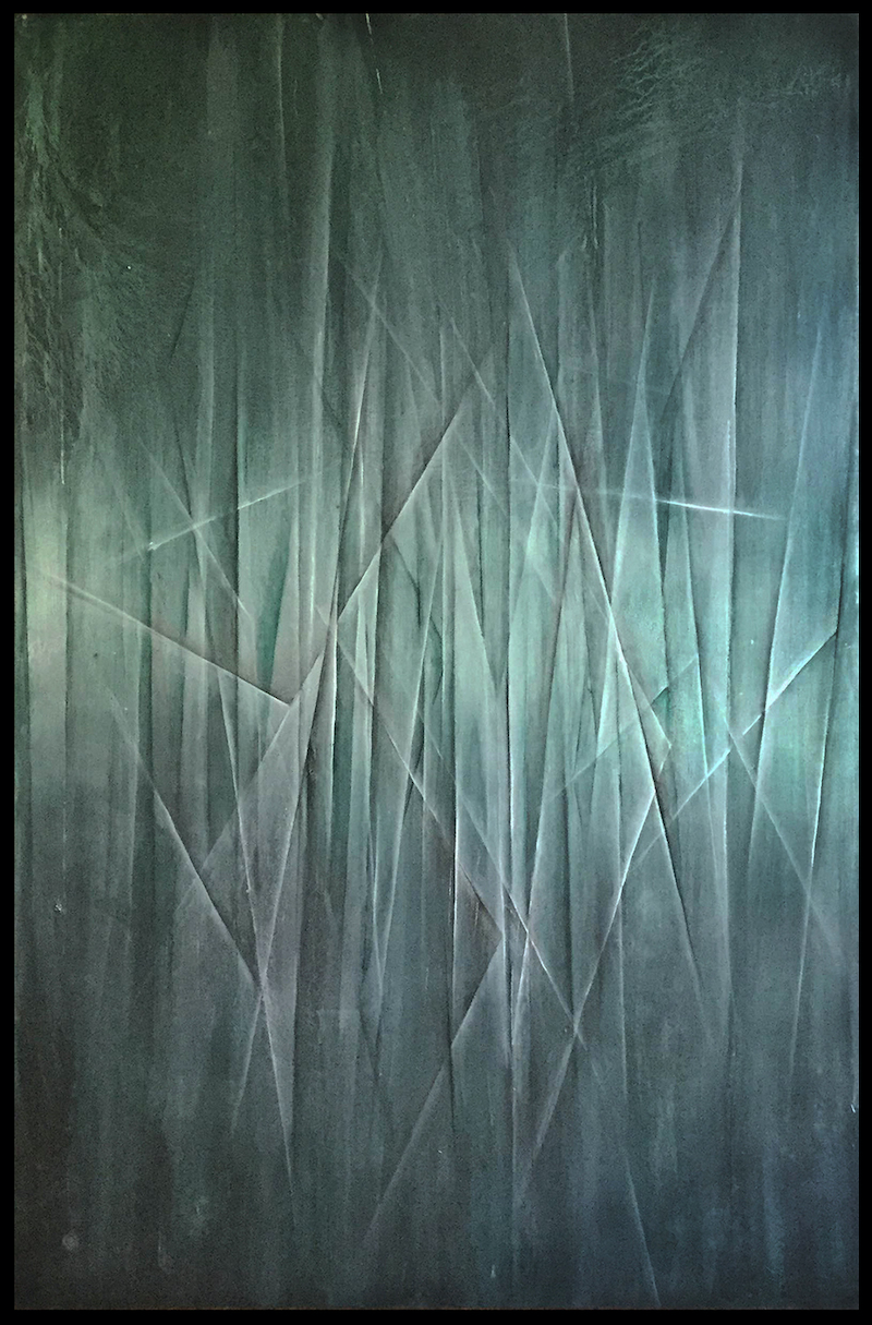 (CreativeWork) Phantom Lights by Scott Ashton Beardow. oil-painting. Shop online at Bluethumb.