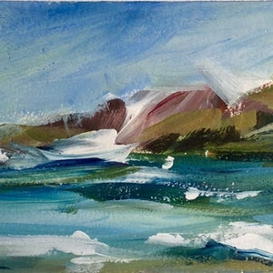 (CreativeWork) Seascape 2 by Ivana Pinaffo. arcylic-painting. Shop online at Bluethumb.