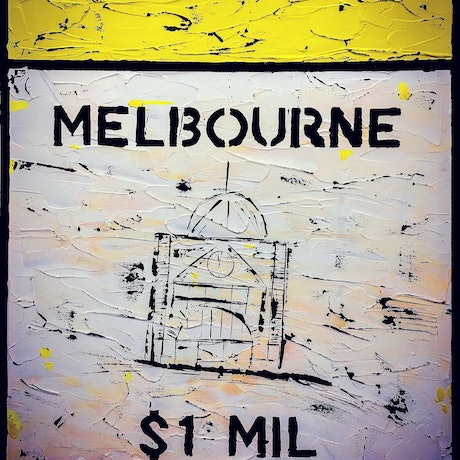 (CreativeWork) Melbourne - The Boom by Leith Kennedy. Acrylic Paint. Shop online at Bluethumb.