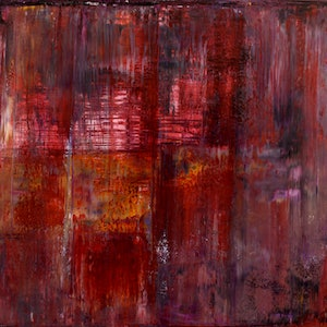 (CreativeWork) Purple and Crimson Landscape by Imron .. arcylic-painting. Shop online at Bluethumb.
