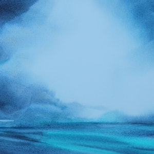 (CreativeWork) Storm Front by Scott Swinson. watercolour. Shop online at Bluethumb.