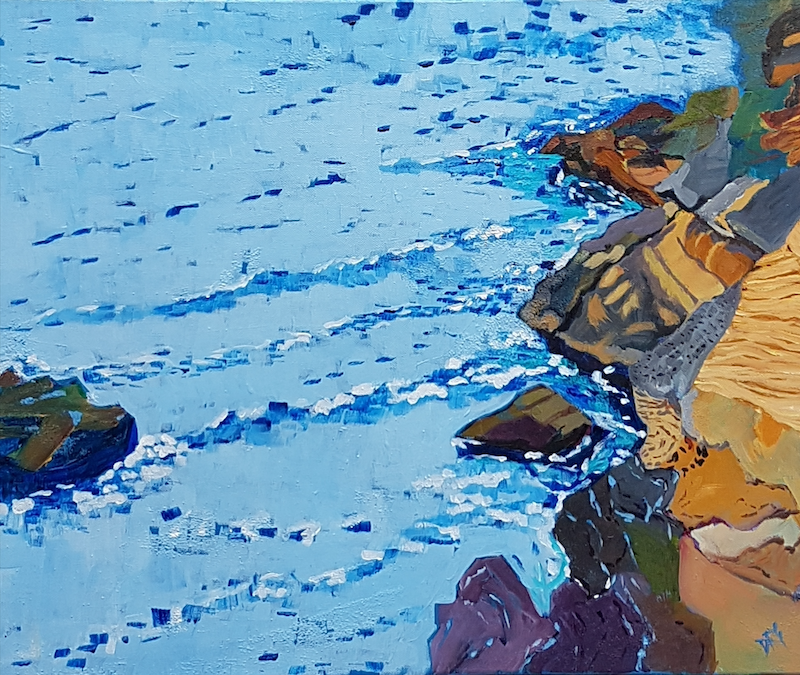 (CreativeWork) Whiting Beach South End by David Foster. arcylic-painting. Shop online at Bluethumb.