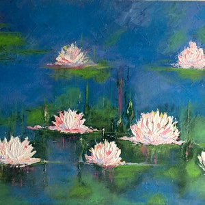 (CreativeWork) LILLY REFLECTION  by April Lockwood. arcylic-painting. Shop online at Bluethumb.