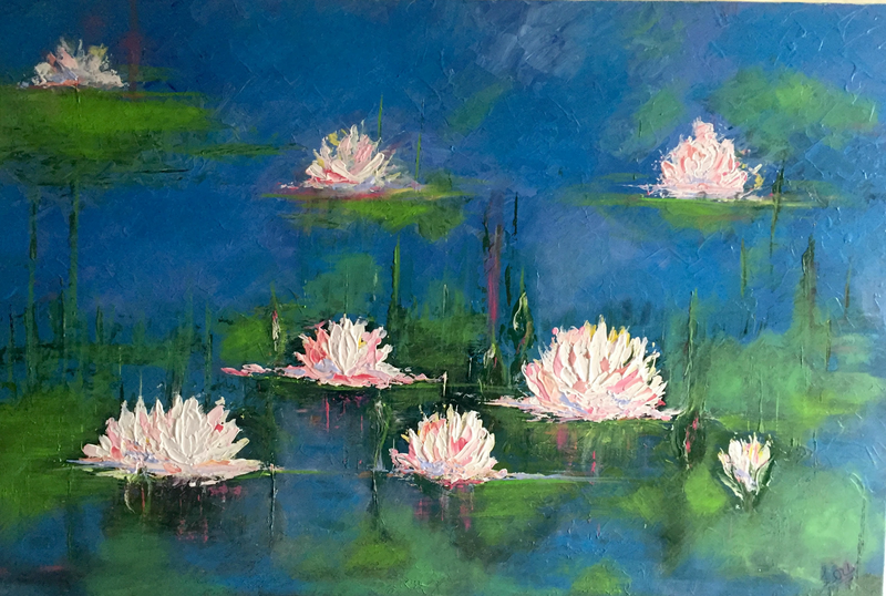(CreativeWork) LILLY REFLECTION  by April Lockwood. Acrylic Paint. Shop online at Bluethumb.