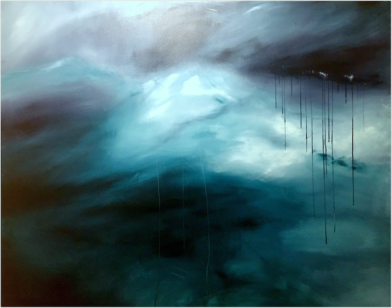 (CreativeWork) Thirst (large 152 x122 cm) by Kat Las. Acrylic Paint. Shop online at Bluethumb.