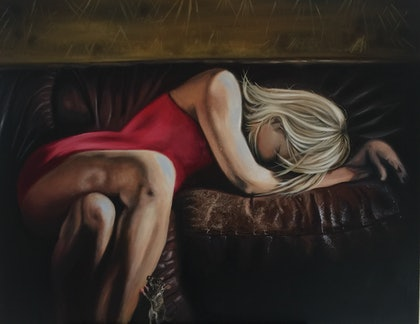 (CreativeWork) Realization  by Renee O'Brien. oil-painting. Shop online at Bluethumb.