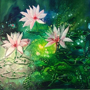 (CreativeWork) Water Garden by Deb Brown. other-media. Shop online at Bluethumb.