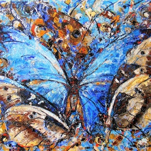 """(CreativeWork) """"Butterfly abstract"""" by Daniela Selir. mixed-media. Shop online at Bluethumb."""