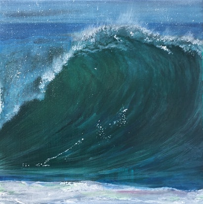 (CreativeWork) The Wave by Afshan C.Koya. Acrylic Paint. Shop online at Bluethumb.