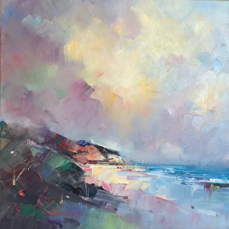 (CreativeWork) Summer at Sorrento Back beach by Liliana Gigovic. oil-painting. Shop online at Bluethumb.